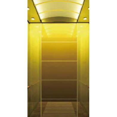 浙江吊頂欽金鏡不銹鋼聚金沙玻璃乘客電梯
