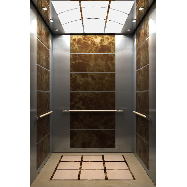 吊頂鏡面不銹鋼鏡面不銹鋼大理石紋乘客電梯